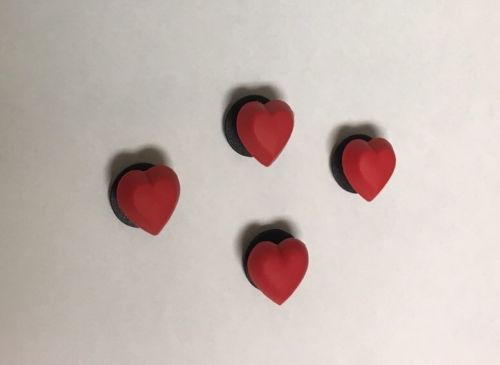 Jibbitz Heart Set Of 4 Clog Shoe Charms Accessories Adorable Red