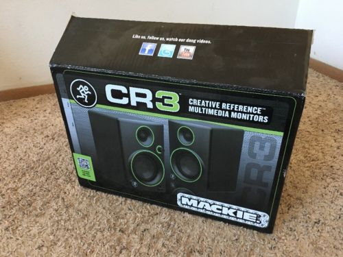 Mackie CR3 Creative Reference Multimedia 50W Studio Monitors Pair & Accessories