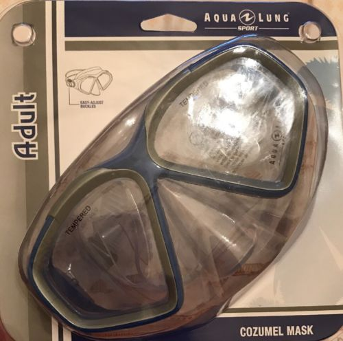 Adult Aqua Lung Tempered Cozumel Mask Sport Scuba Gear
