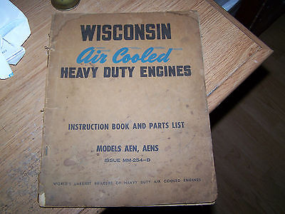 WISCONSIN AIR COOLED HEAVY DUTY ENGINE MANUAL MODEL AEN, AENS