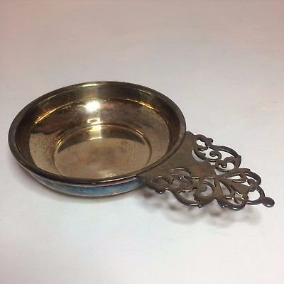 Small Vintage Dish With Decorative Handle - Silver By Boardman - 8395