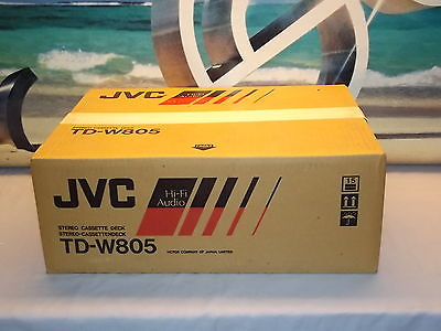 JVC TD-W805 Stereo Double Cassette Tape Deck Player / Recorder NEW Made In JAPAN