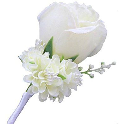 Weddingbobdiy Boutonniere Buttonholes Groom Groomsman Best Man Rose Wedding