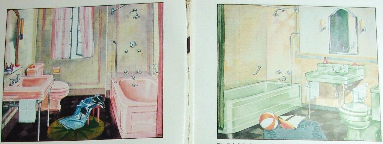 1936 CRANE Plumbing Heating Water ART DECO Bath Kitchen Catalog ASBESTOS