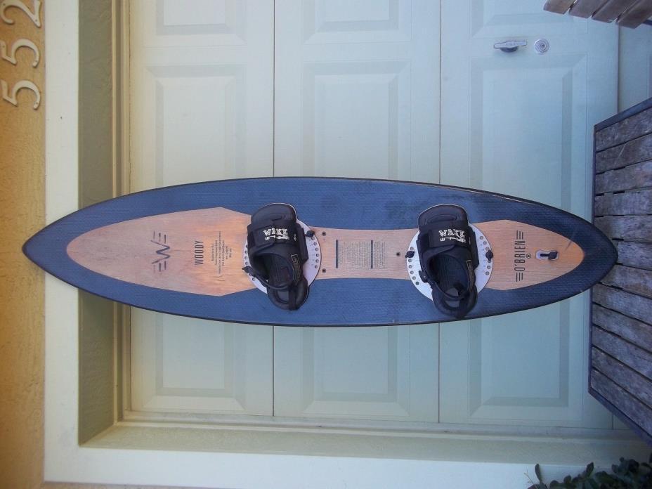 Vtg O'Brien Woody Compression Molded Graphite Reinforced Hydroflo Wake Board