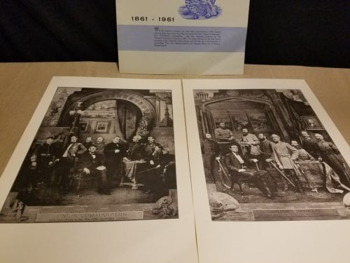 CIVIL WAR COMMANDERS PRINTS CONFEDERATE AND UNION by Travelers Insurance Company