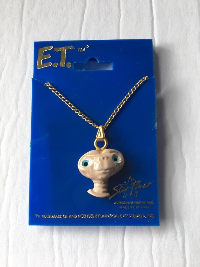 "E.T. The Extra-Terrestrial Necklace Unused ""NOS"""