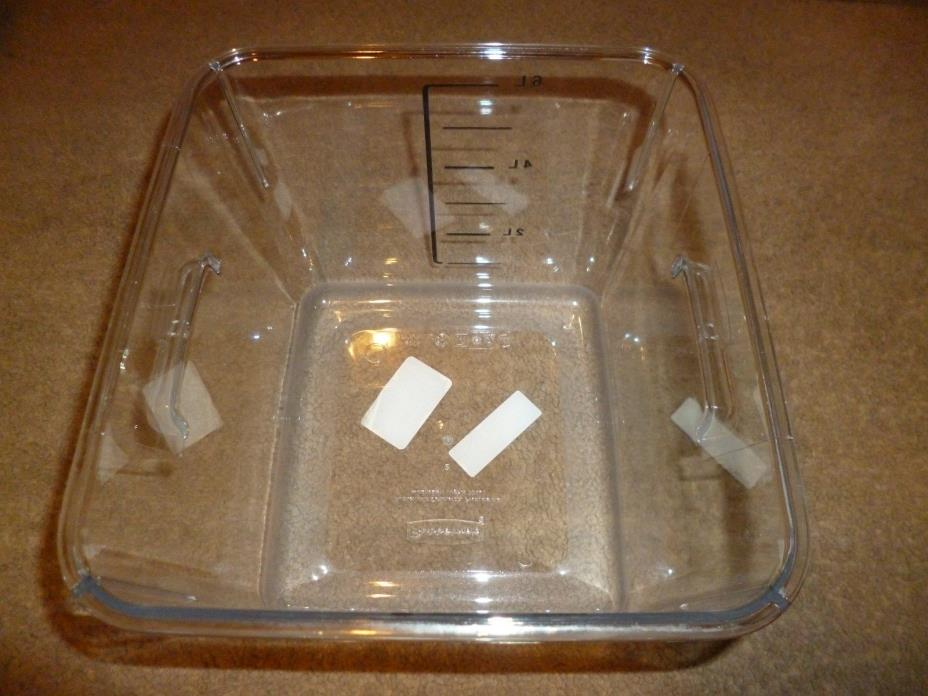 Rubbermaid Commercial Products 6 Qt Clear Space Saving Square Container BPA free