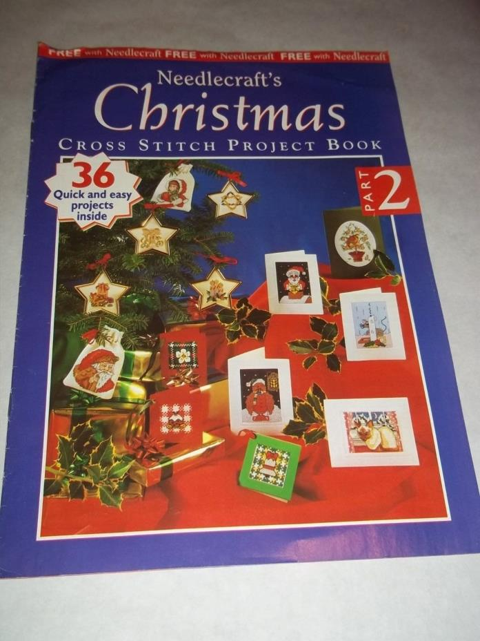 Vtg. Cross Stitch Embroidery Leaflet - Needlecraft's Christmas Project Book