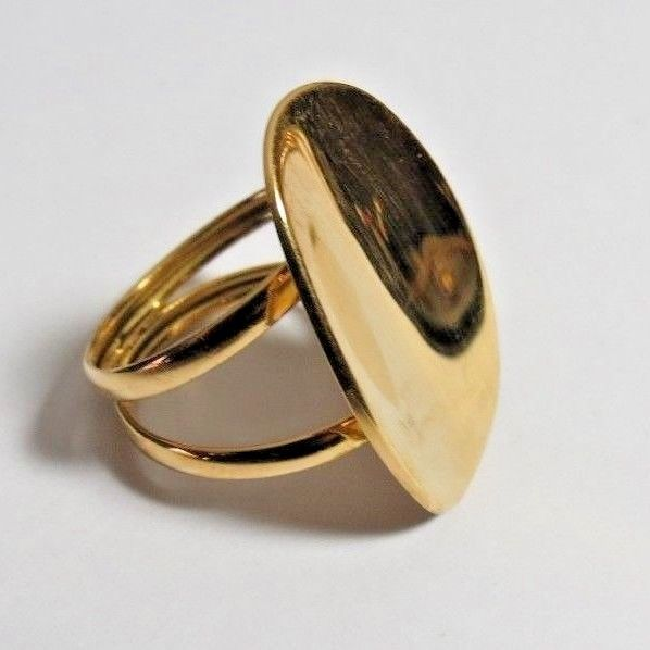 BEAUTIFUL MILOR MADE IN ITALY LADIES 18K YELLOW SOLID GOLD RING SZ 10.  5.35 gr