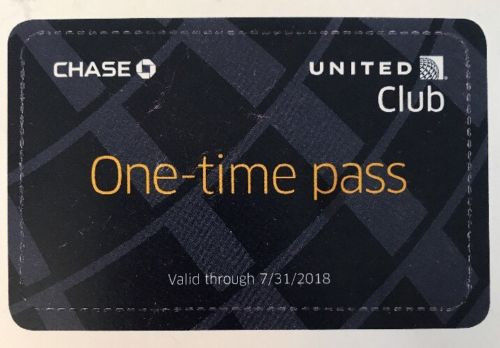 2 United Airlines One-Time Club Lounge Guest Pass / Passes Expires 7/31/2018