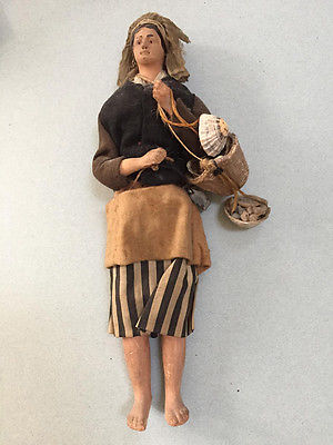 Rare Antique 20's Composite French Brittany Fishmonger doll