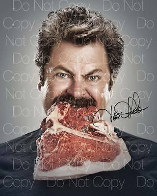 Ron Swanson signed Parks and Rec 8X10 photo picture poster autograph RP 3