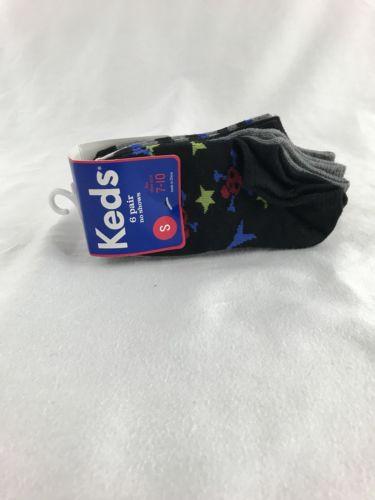 NEW Keds Lot 6 Pairs Baby Boys Quarter Socks Small Shoe Size 7 8 9 10