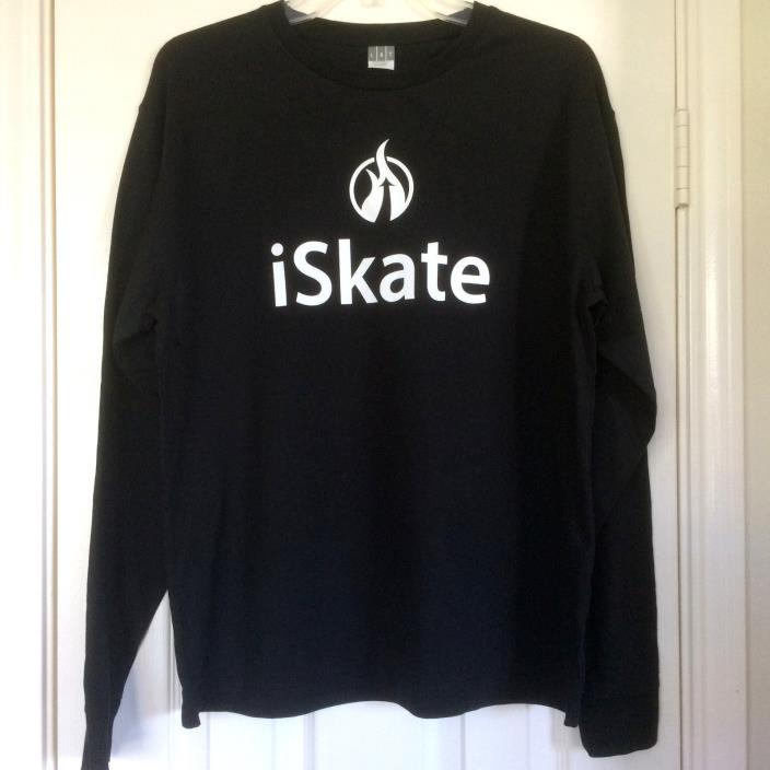 Youth M,L, or XL Ice Figure/Roller Skating Black Unisex T-shirt