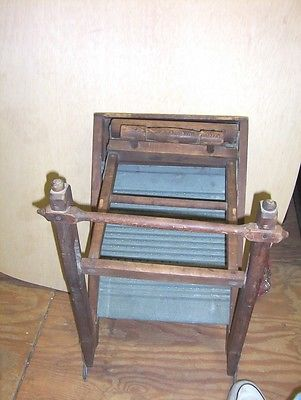 Primitive Vintage ATLANTIC Clothes Washing Machine, Rare, Original Condition
