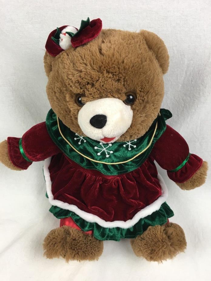2014 WalMART CHRISTMAS Snowflake TEDDY BEAR Brown Girl 20