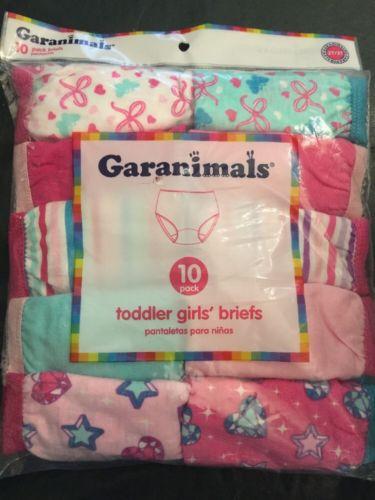 garanimals toddler girls briefs size 2 T / 3 T 10 pair