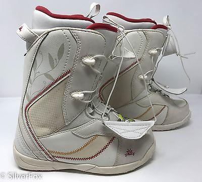 Women's K2 Snowboard Snowboarding Ski Boots Shoes Show Winter PLUSH White sz 7