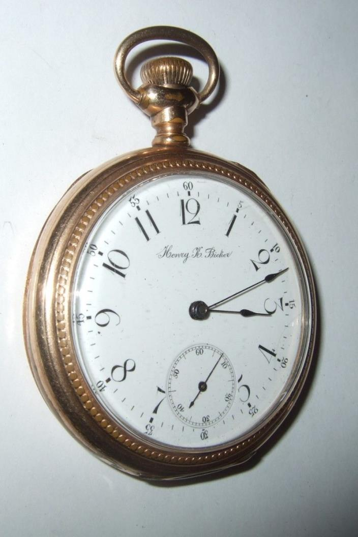 Vintage Pocket Watch Henry K Bicker Pocket Watch It Runs 2