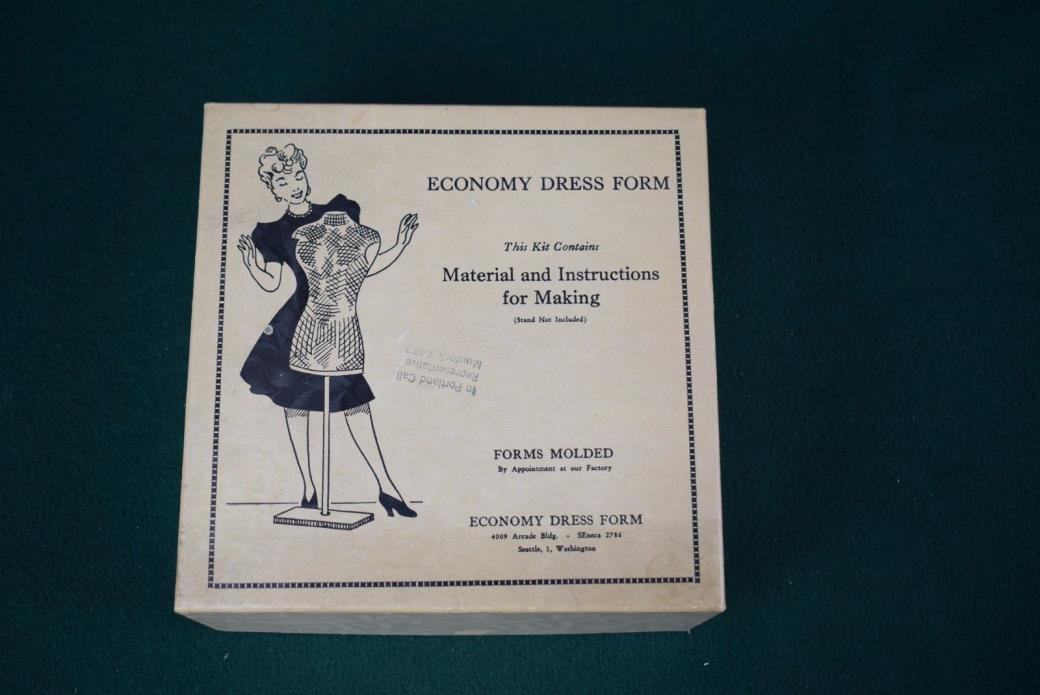 Vintage economy dress form kit - 1940's