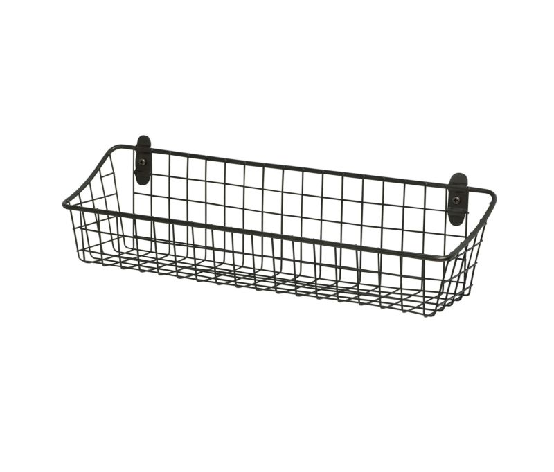 Kitchen Bath Laundry Wall Mount Basket Vintage Cabinet Organized Sturdy Steel