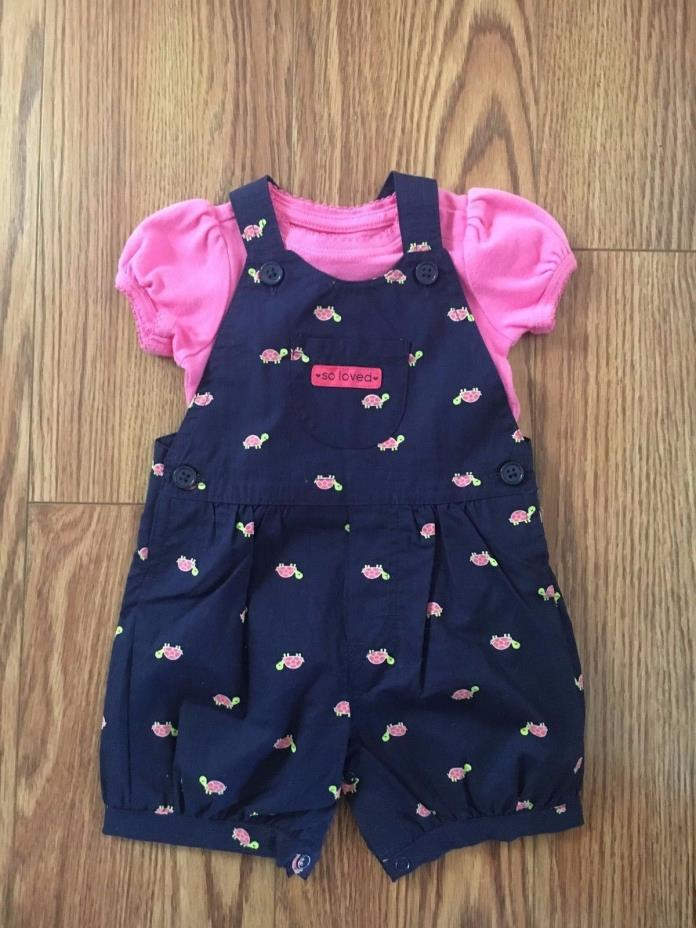 Gap and Carter's  baby girls two piece outfit size 3 months