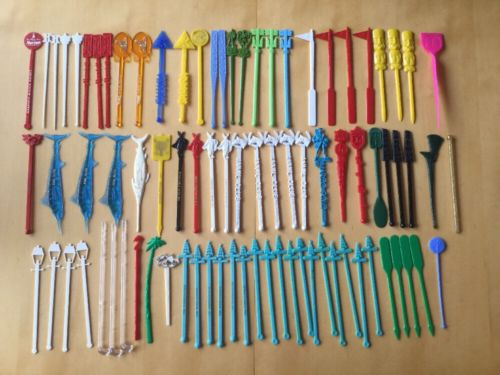 84 Vintage Lot Drink Stirrer Swizzle Sticks Bar Airline Hotel Hawaii Las Vegas