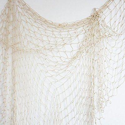 Bilipala Fishing Net Decor Wall Nautical Style 75 Inch
