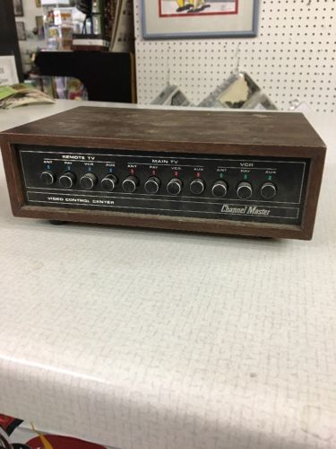 channel master video control center model 0770B remote main TV VCR