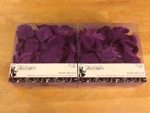 His & Hers Purple Rose Petals