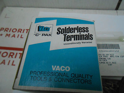 13206  VACO TERMINAL LUGS 500PCS  5 PACKS OF 100 EACH NEW OLD STOCK