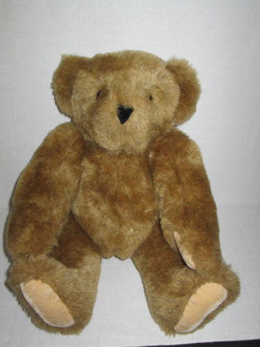 Original Vermont Teddy Bear Company Jointed Beautiful Plush Toy Animal 16