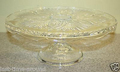 Pedestal Cake Plate Cake Stand Crystal  Serving Platter Sandwich Plate