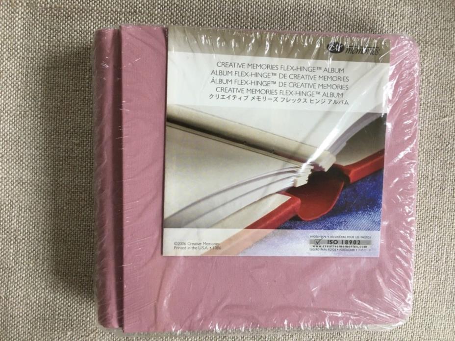 New! Sealed! Creative Memories 7x7 pink scrapbook photo album