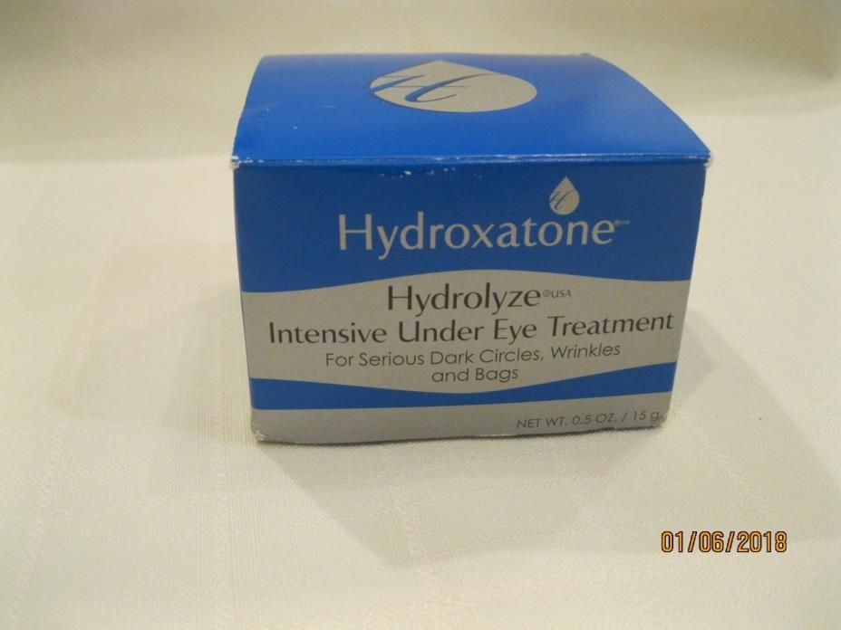 Hydroxatone-Hydrolyze Intensive Under Eye Treatment - 0.5 Oz - NIB/Sealed