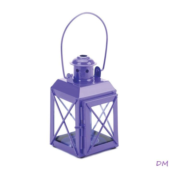 12 Charming Purple Railroad Style Candle Lanterns Lamps Wedding Centerpieces