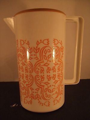 VINTAGE ART DECO PLASTIC JUICE PITCHER  VERY DECORTIVE