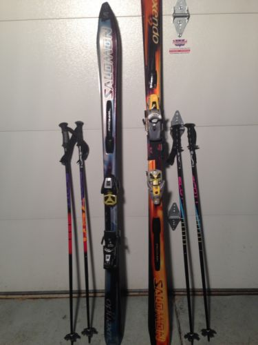 Salomon Axendo 8 & 9 Snow Skis Set With Bag 66