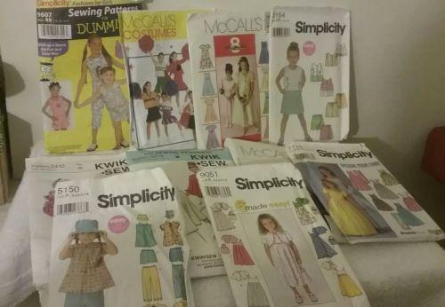 vintage lot of children patterns, McCalls,Simplicity, Kwik