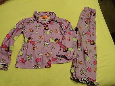 Girls Purple Nickelodeon Dora the Explorer Fleece Pajama Set - SZ 5T