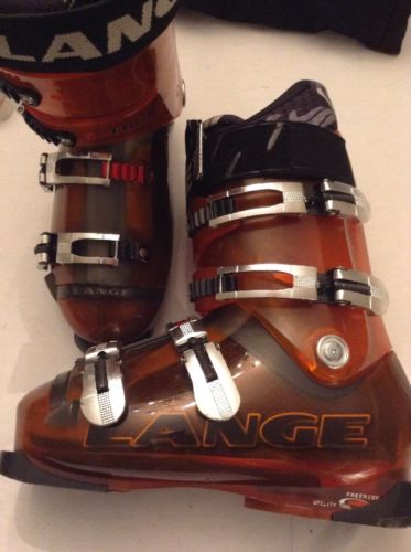 Lange Fluid FR Free 80 Ride Ski Boots Mondo Size 26.5 Orange
