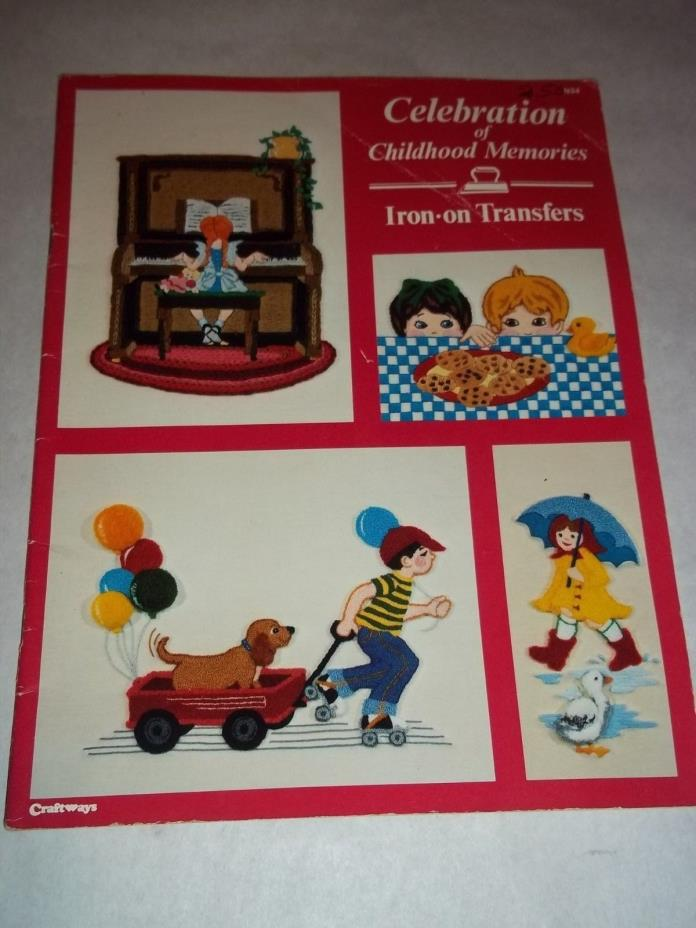 Vtg. Cross Stitch Embroidery Iron-On Transfer Patterns - Childhood Memories