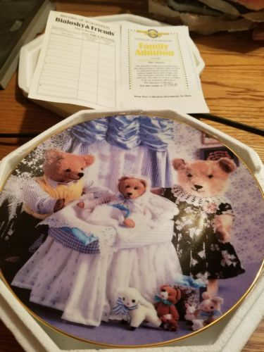 bialosky & friends family addition plate with coa