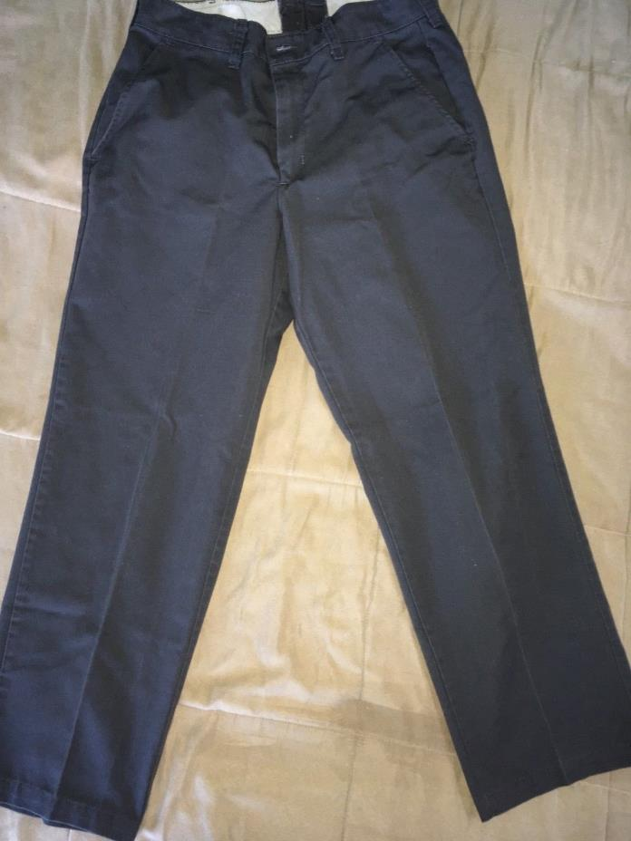 Red Kap Mens' Stain Resistant, Flat Front work Pants - Grey 32x30