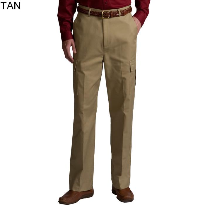 Edwards Mens Khaki Uniform Work Pants Flat Front Cargo NWT Mens Chino 2568-005