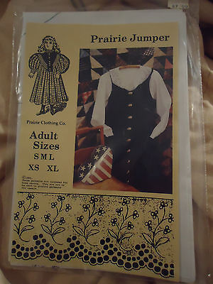 NEW UNCUT Prairie Jumper Pattern by Prairie Clothing Co Adult Sizes S To XL