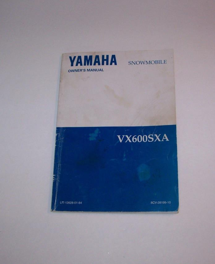 YAMAHA Snowmobile Model VX600SXA, 1984 Original Owner's Manual