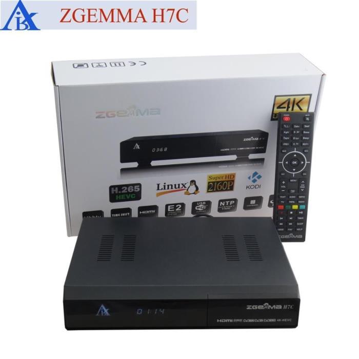 Zgemma H7C 4K UHD Receiver with DVB-S2/S2X + 2*DVB-T2/C Kodi 2 Years FREE IPTV