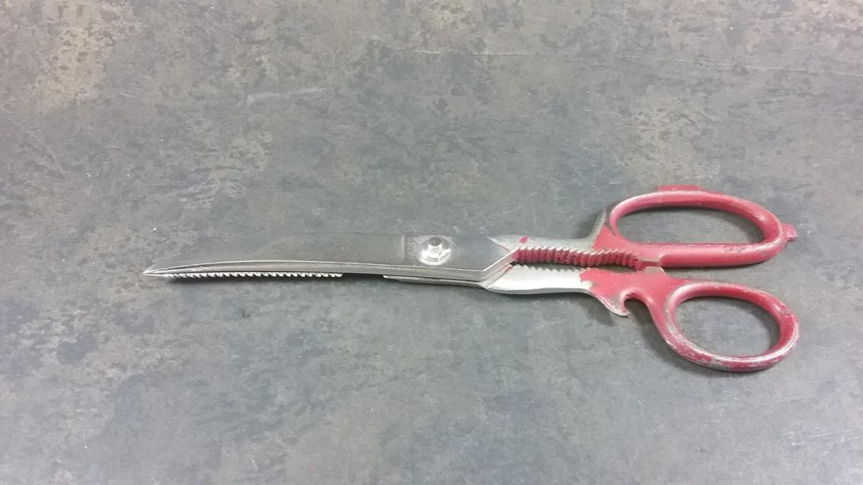 VINTAGE ITALY HOT DROPED FORGED STEEL MULTI USE SCISSORS SHEARS 8 3/4